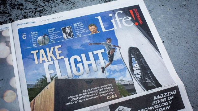 Parkour Family (Kids) Feature in Straits Times Life