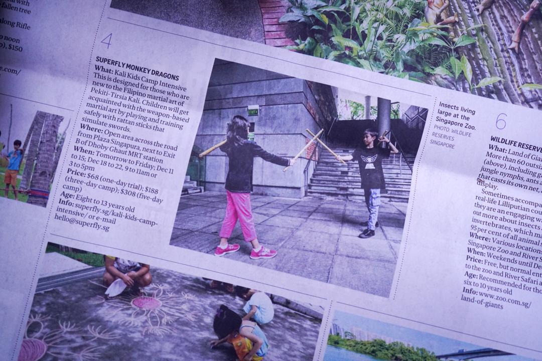 Straits Times Life - Kali Kids Camp