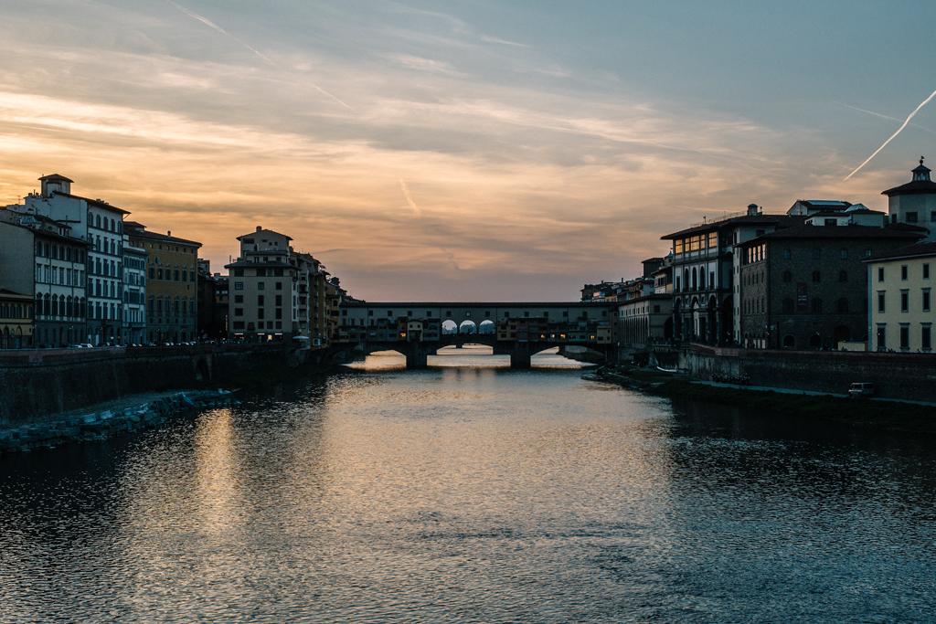 fotografia firenze blog di viaggi move4ward toscana ponte vecchio fiume tramonto