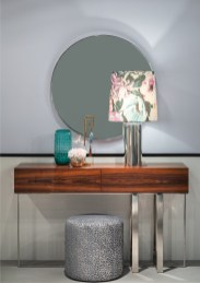 Consola e espelho com inox
