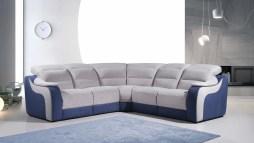 Sofá de canto com relax electrico