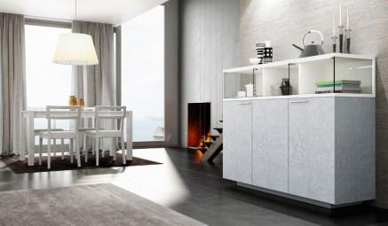 Móvel Bar em lacado branco com detalhes em vidro. Personalize o mesmo de acordo com o seu gosto e espaço.