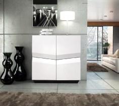 Móvel Bar em lacado branco alto brilho. Personalize o mesmo de acordo com o seu gosto e espaço.