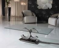Mesa de Centro com pé cromado e tampo em vidro. Personalizamos ao seu gosto e estilo.
