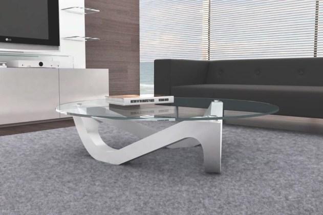 Mesa de centro com pé lacado branco com tampo em vidro. Personalizamos ao seu gosto e estilo.