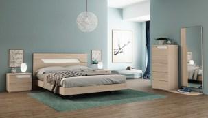 Quarto Casal em melamina cor carvalho natural e branco. Transforme o seu quarto num Quarto de Sonho!