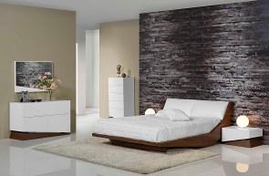 Quarto Casal em nogueira e lacado branco mate. Transforme o seu quarto num Quarto de Sonho!