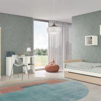 Composição juvenil em pinho cor branco e chocolate. Personalizamos o nosso mobiliário, contacte-nos!