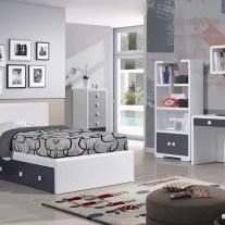 Quarto Juvenil em lacado branco e preto. Personalizamos o nosso mobiliário, contacte-nos!