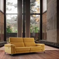 Sofá 3L com relax e cabeços eléctricos