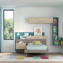 Quarto Juvenil em carvalho natural e lacado. Personalizamos o nosso mobiliário, contacte-nos!