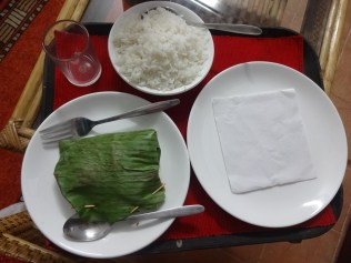 Curried fish wrapped in banana leaf!