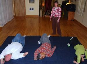 Carrie Lafferty teaching awareness through movement.