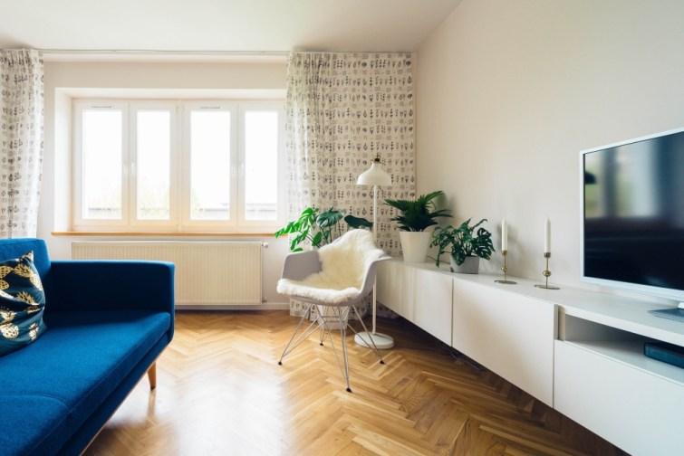 Wohnzimmer für Verkauf eingerichtet
