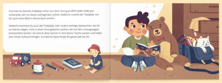 Umzugsbuch für Kinder