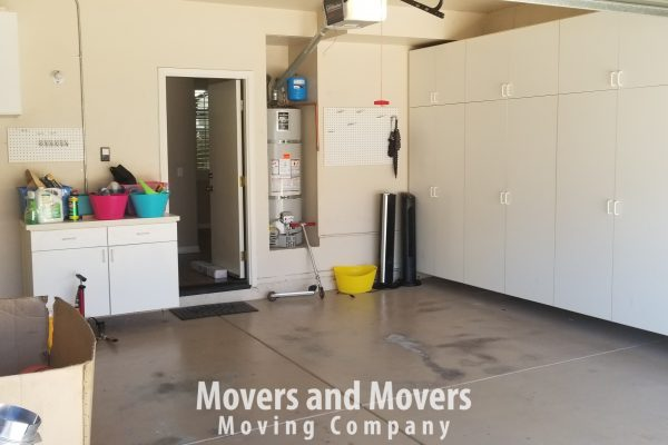 Picture of how Movers and Movers helped customer to empty his garage