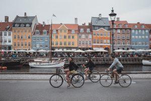 People riding bikes in Denmark