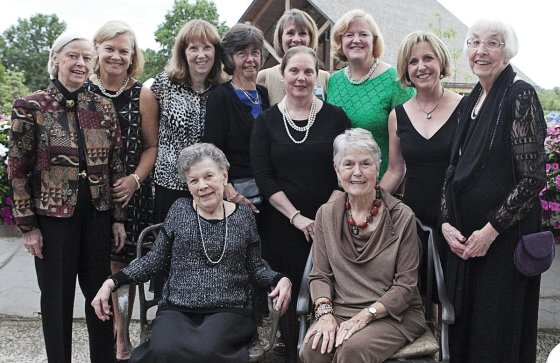 The committee, (standing) Cece Mooney, Dawson Bullock, Margaret Swallow, Marge Davis, Diane Decker, Diana Collins, LouAnn Mauk, Joy Blang and Ann Reed; (seated) Ann Hunter and Ann Bullock