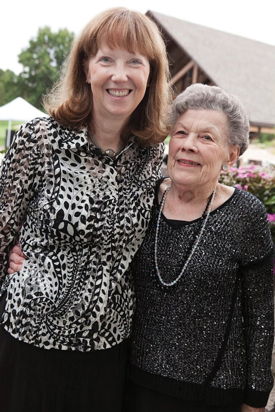 Board member Margaret Swallow and Marjorie P. Lee resident Ann Hunter, both members of the gala committee