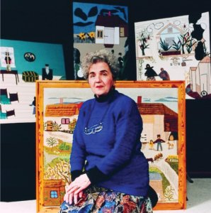 Esther Krinitz, with her collages