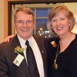 Honoree Ray Hebert with BCM executive director Laurie Risch