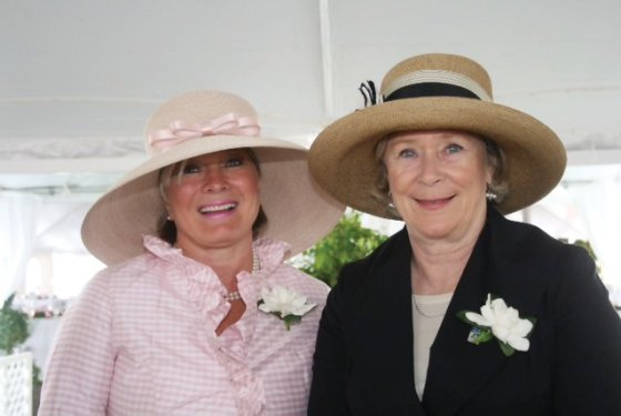 Debbie Oliver and Helen Heekin, the founding co-chairs of The Women's Committee, at the inaugural Hats Off Luncheon