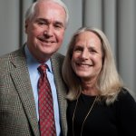 Glen Mayfield, foundation board member and son of founder Dr. Frank H. Mayfield, with wife Lynn