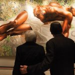 "30 Americans includes a 25-foot painting, Kehinde Wiley's ""Sleep."""