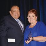 Honoree Dr. O'dell Owens with Valerie Landell, VNA president and CEO