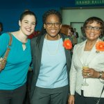Cassidy Staver, GBBN Architects; Felicia White, St Ursula Academy; and Barbara Smitherman