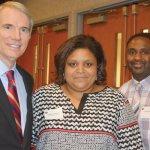 U.S. Sen. Rob Portman, honoree Deanna Shores, Terry Shores