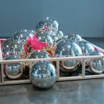 """The Carnegie: Jonathan Capps (Ohio State University), """"Play Pen,"""" blown and mirrored glass, wood and paint, 2012"""