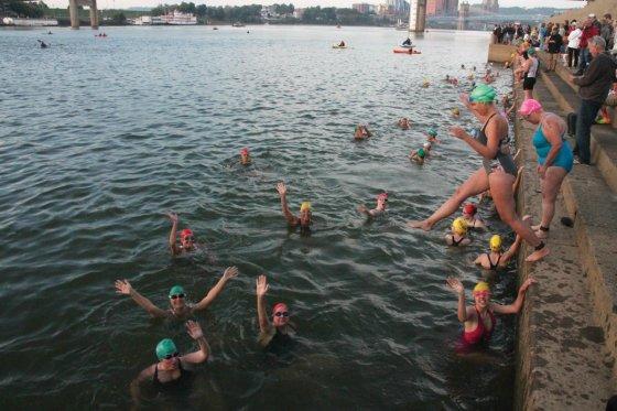 Ohio River swim