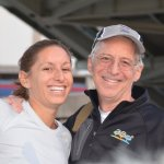 Caroline Keating and Bill Keating, who both have completed the Ohio River Swim