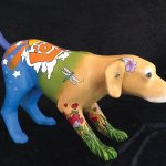 A Painted Pets sculpture designed by Mara McCalmont