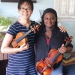 Teacher Ji Young and Kalla Ervin