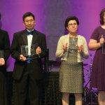 Inspiration in Cancer Research finalists Dr. Maryam Fouladi, Dr. Ray Takigiku, Dr. Zalfa Abdel-Malek, Nicole Given