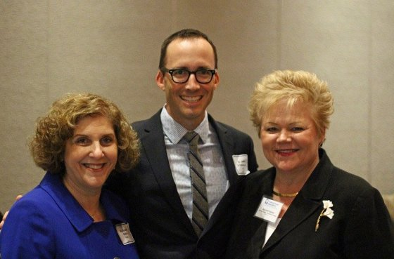 Honorees Dr. Elizabeth Rabkin and Dr. Jeffrey Schlaudecker, With Deborah Hayes of Christ Hospital