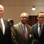 VNA board member George Yund, Dr. Orson Austin, honoree Dr. Jeffrey Schlaudecker