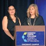 Simone Schicker, president of the Rabbinical Student Association, and Sharon Love, president of the Graduate Student Association