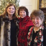 Dr. Janet Castellini, Nancy Bove and Joan Holwadel at the club's holiday party
