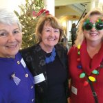 Nancy Melville, club president Suzanne Costandi and Joan Gregorich