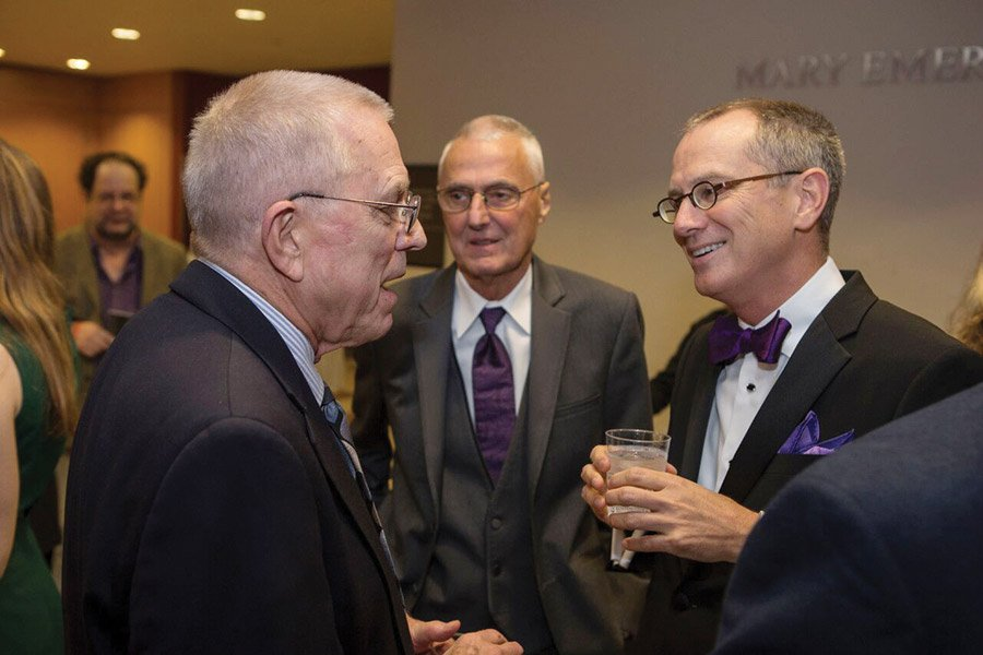 Phil Crabtree, Jerry DePhilipps and CCM interim dean bruce mcclung
