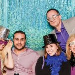 Volunteer Jean Huddleston and guests Abraham Shehadeh, Katie Hodulik, Daine Goetz and Dr. Erham Erdeger