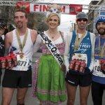 Iris Simpson Bush, executive director of the Flying Pig Marathon, Sean Vandermosten, Rachel Appenfelder, Tommy Kauffmann and Zachary Holtkemp
