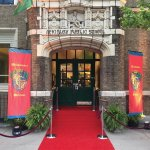 """The Irish Center houses the Irish Heritage Center with the red carpet Cead Mile Failte which features the Irish greeting, """"One Hundred Thousand Welcomes."""""""