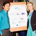 Speaker Vu Le with Jenny Berg, executive director of the Leadership Council for Nonprofits