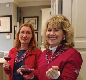 Tracy Kosiarek, president of the Alliance Française of Cincinnati, and Jennifer Sauers, committee chair