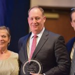 Sue Sommers of Delta Airlines, a previous honoree; Chris Carlson, Ohio National vice chair and 2017 honoree; and Doug Kelly, president and CEO of Make-A-Wish Ohio