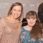 Amy Scalia with actress Jamie Brewer